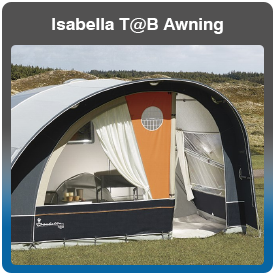 Isabella T@B Caravan Awning for sale at Adventure Leisure Vehicles