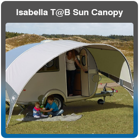 Isabella T@B Caravan Sun Canopy for sale at Adventure Leisure Vehicles
